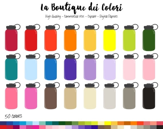 50 Water Bottle Clipart, Hydrate Digital illustrations PNG ...