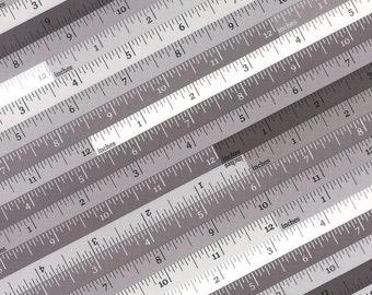 Sew 'N Sew - Measuring Tape Grey by  Chloe's Closet for Moda, 1/2 yard, 33182 16