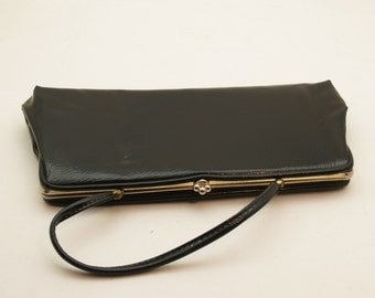 Vintage Classic Mid Century Black Handbag or Clutch