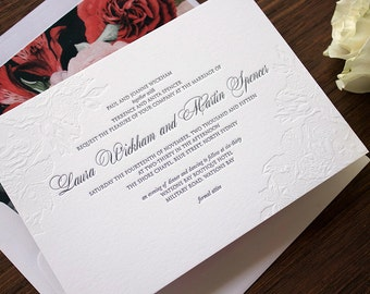 Letterpress Wedding Invitations - Vienna
