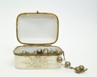 Jewelry Storage, Jewelry Box, Small Jewelry Box, Small Trinket Box, White Porcelain Jewelry Trinket Box, Small Ring Box,