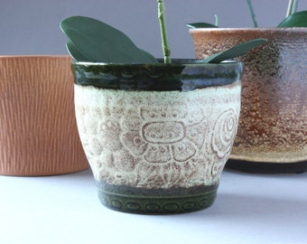 Small Scheurich planter ceramic 60s 70s, vintage flower pot, Germany flowerpot, gift friend girlfriend wife, houseplants decor