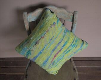 Unique Textile Art Silk Cushion