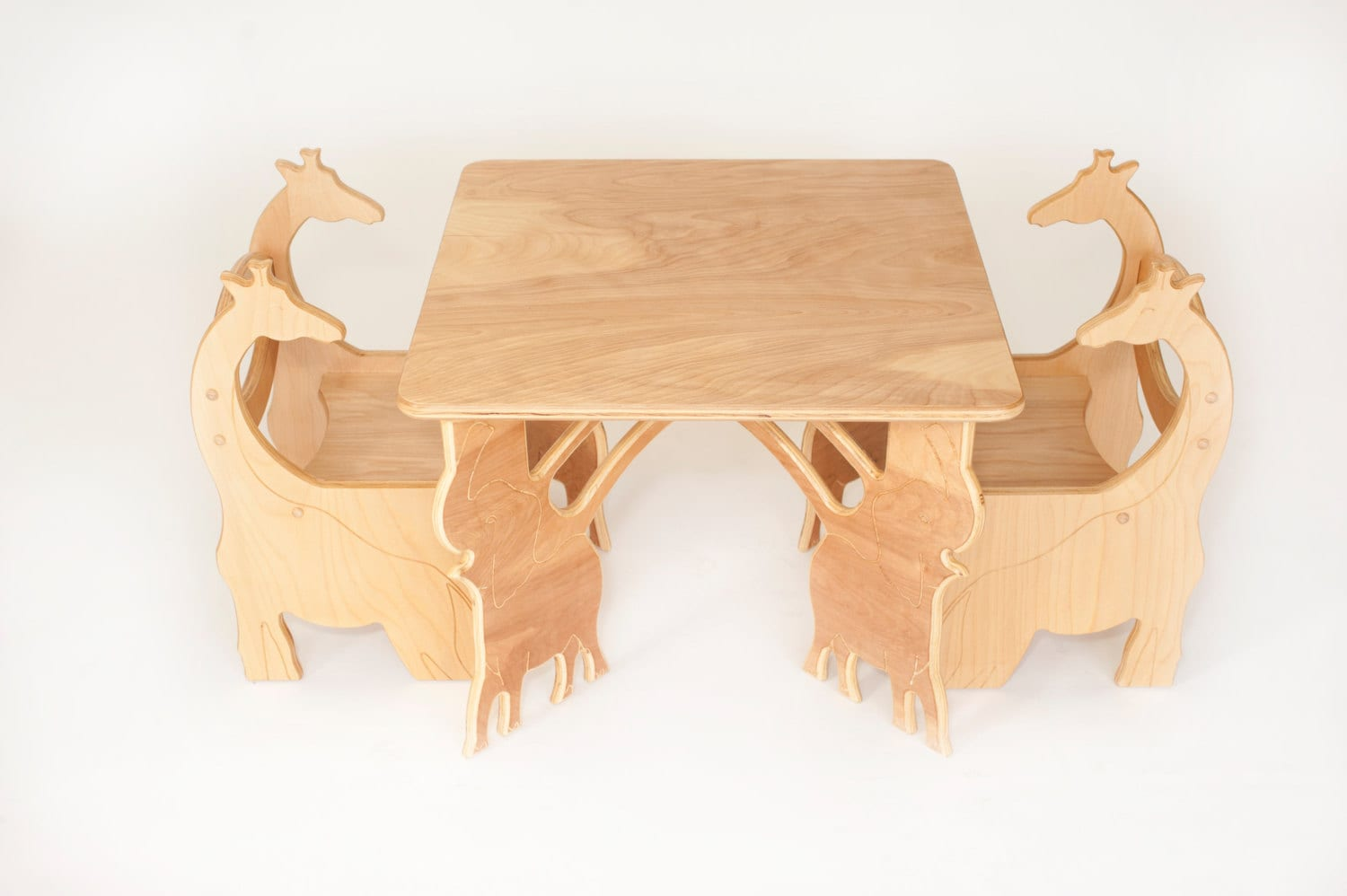 Toddler Square Elephant Table 2 Chairs by PopPopsFurnitureCo