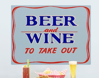 Beer Wine Take Out Wall Decal - #53512