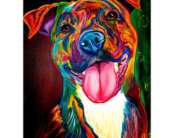 Smile Time Pit Bull Dog Wall Decal - #60012