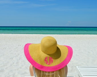 Monogram Beach Hat - Colorful - Beach Hats - Floppy