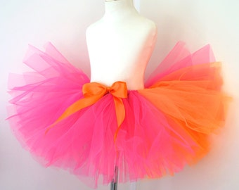 Toddler Tutu - Pink and Orange Tutu - 18 month Tutu - 24 Month Tutu - 3 Year Tutu