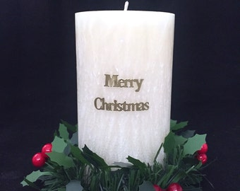 Christmas Candle & Wreath