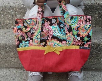 Red, Paisley Tote SALE!!