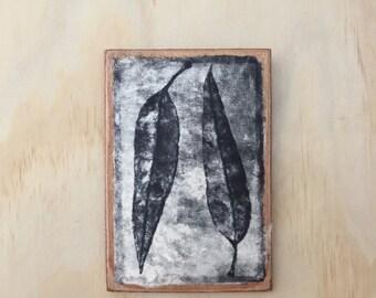 Original artwork of Gum leaves