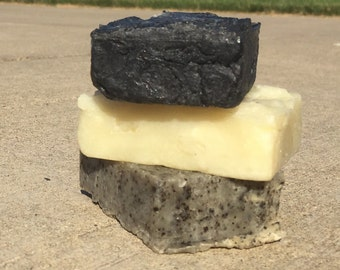 All Natural Coconut and Olive Oil Soap Bar - Healing Soap - 3.5 oz Pick your scent - Made with Organic Ingredients  - Handmade soap