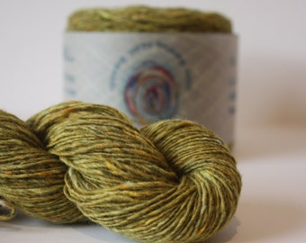 Spinning Yarns Weaving Tales - Tirchonaill 581 Celery 100% Merino for Knitting, Crochet, Warp & Weft