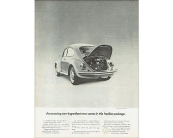 Vintage 1969 newspaper ad for Volkswagen Beetle poster - 11