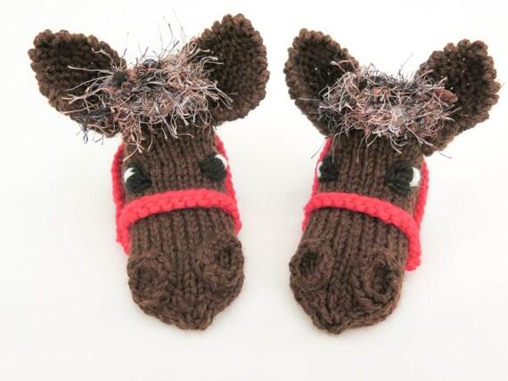 KNITTING PATTERN Horse Slippers Horse Socks Novelty Sock