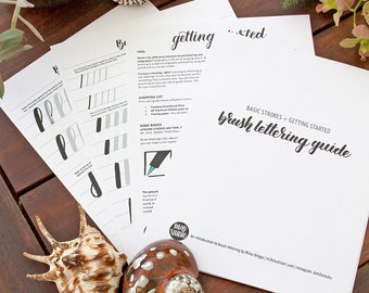 Getting Started - Learn Brush Lettering - Basic Strokes and Blank Guides