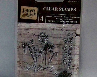 Forever Green Stamp by Prima Flowers Clear Stamps