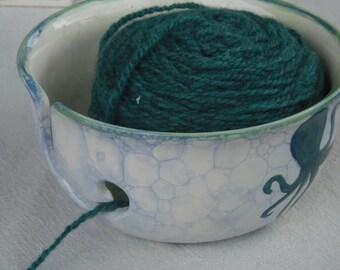 Octopus's Garden Knitting Bowl