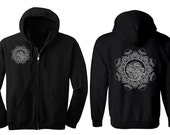 MUSHROOM Mandala Hoodie Men's and Women's Metatron Hooded Sweatshirt Sacred Geometry Tattoo Style Jacket