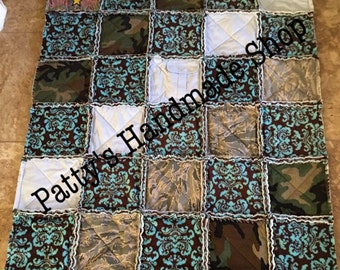 Memory military uniform quilts.