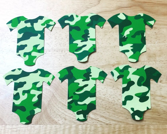 Army Onsesie cutouts from Etsy Shop