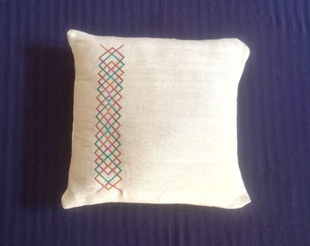 A simple embroiderd cushion cover
