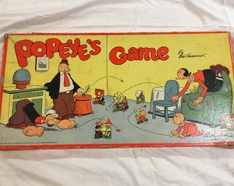 Rare 1948 Popeye's Game, An amazing and hard-to-find collectible game