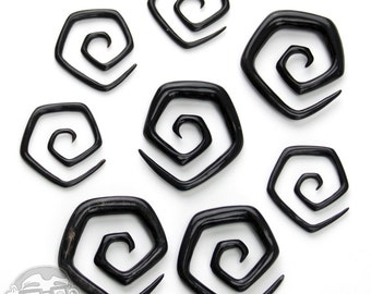 Octagon Horn Spirals - Sizes / Gauges (8G, 6G, 4G, 2G)