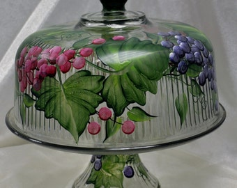 Multi colored Grapes Cake Keeper/Punch bowl