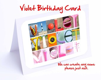 Violet Personalised Birthday Card