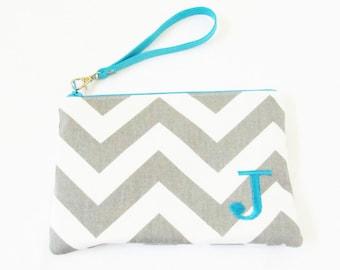 Wristlet - Personalized Makeup Bag - Bridesmaid Bags - Design Your Own Cosmetic Bag or Wallet - Medium