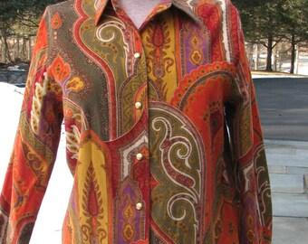 Vintage Escada Shirt - Paisley Print