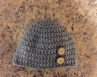 Beanie hat with buttons