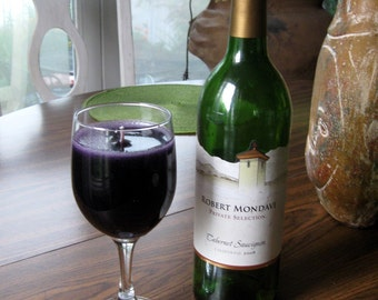 Cabernet Wine Candle