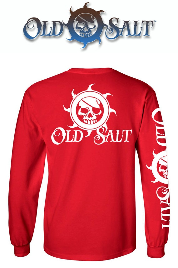 Old salt brand saltwater fishing surfing diving ocean beach t for Saltwater fishing apparel