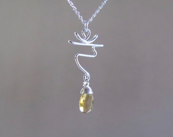 Solar Plexus - Chakra Necklace - Manipura - Sterling Silver