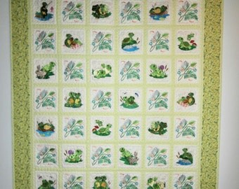 Turtles Galore baby quilt or wallhanging