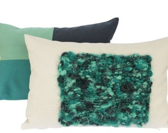 Colorblock Knit pillow, Decorative pillow, Throw Pillow Covers, Couch Pillow, Sofa Pillow 12x18 inch