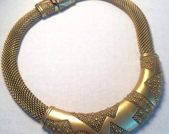 Monet Gold-toned Choker Necklace 1980s