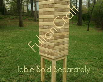 Giant Tumbling Blocks Game, Giant Game, Wedding Guest Book, Life Size, Lawn Games, Jumbo Game, Tumbling Timbers