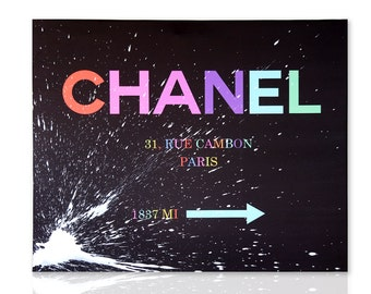 Modern painting Chanel Art 1837 - Paintings on Canvas - Ready to Hang