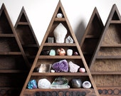 SALE - The Original Moon Phases Triangle Shelf for Crystal Display