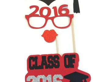 Graduation Photo Booth Props- Class of 2016 Graduation Party 4 Piece Set