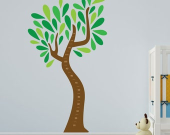 Child's Growth Chart Tree Vinyl Wall Art