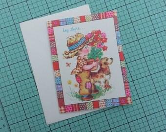 Unused Vintage Get Well Soon Greeting Card