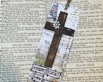 Cross Bookmark, Amazing Grace Bookmark, Bible Study Gift