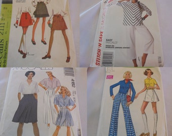 U Pick Sewing Patterns Skirts Vintage Flare Maxi tops Pants Capris Gauchos