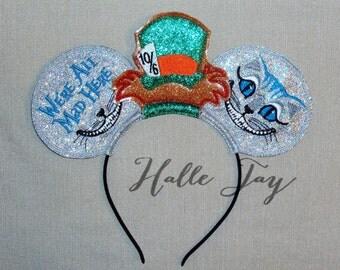 Ready To Ship Tim Burton Alice In Wonderland  Ears Headband