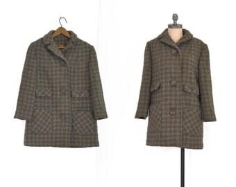 Elgin Tweed Coat • Vintage 60s Wool Coat • 1960s Short Car Coat • Vintage Tweed Wool Coat • Vintage 60s Half Coat • Short Tweed Coat