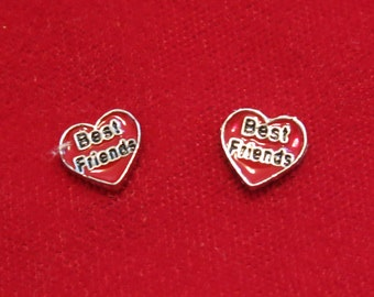 "5pc ""best friends"" floating charms for memory lockets (LC16)"